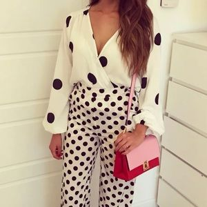 BNWT POLKA DOT CROSSOVER BODYSUIT ONE PIECE